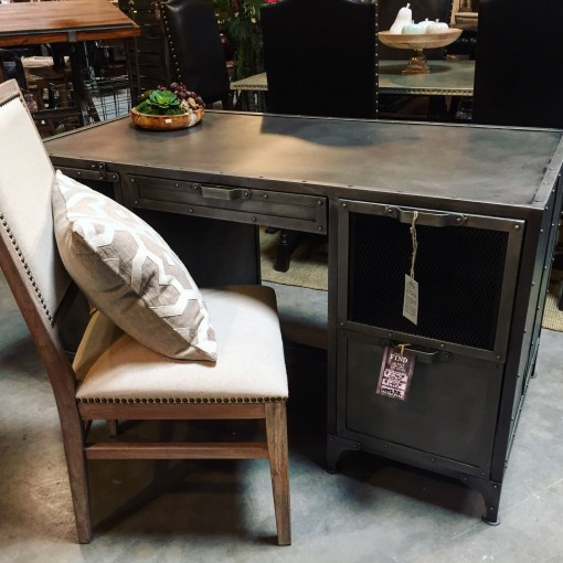 This Stylish Metal Desk is our Find of the Week!